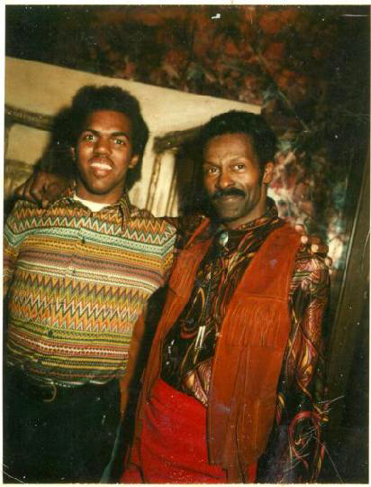 (L-r) Piano player Daryl Davis with Chuck Berry in 1975. MUST CREDIT: Courtesy of Daryl Davis