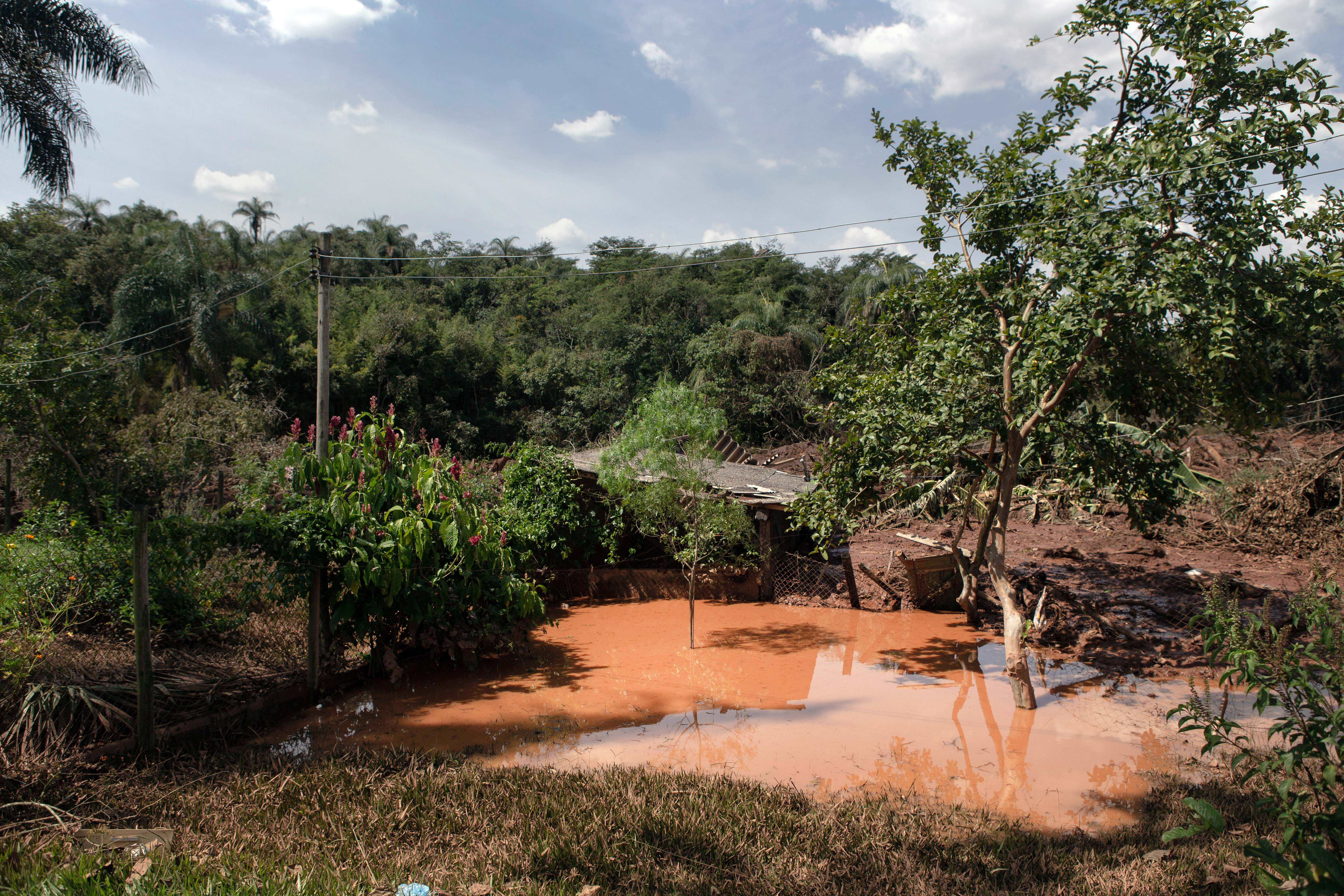 A house inundated by the collapse of the Brumadinho dam in Brazil about a week after the January disaster. MUST CREDIT: Photo by Pétala Lopes for The Washington Post