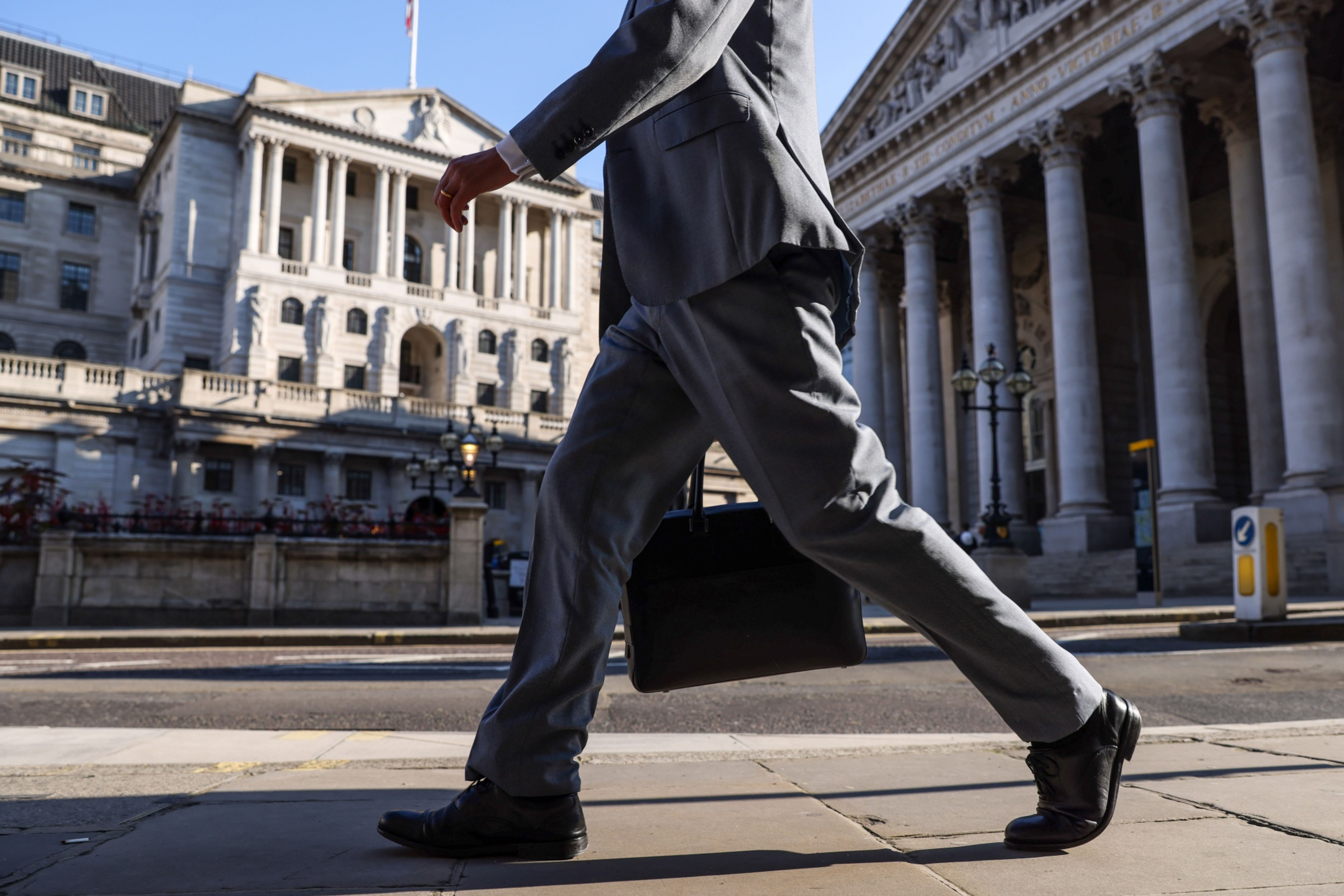 The Bank of England in the City of London on Aug. 5, 2021. MUST CREDIT: Bloomberg photo by Hollie Adams.