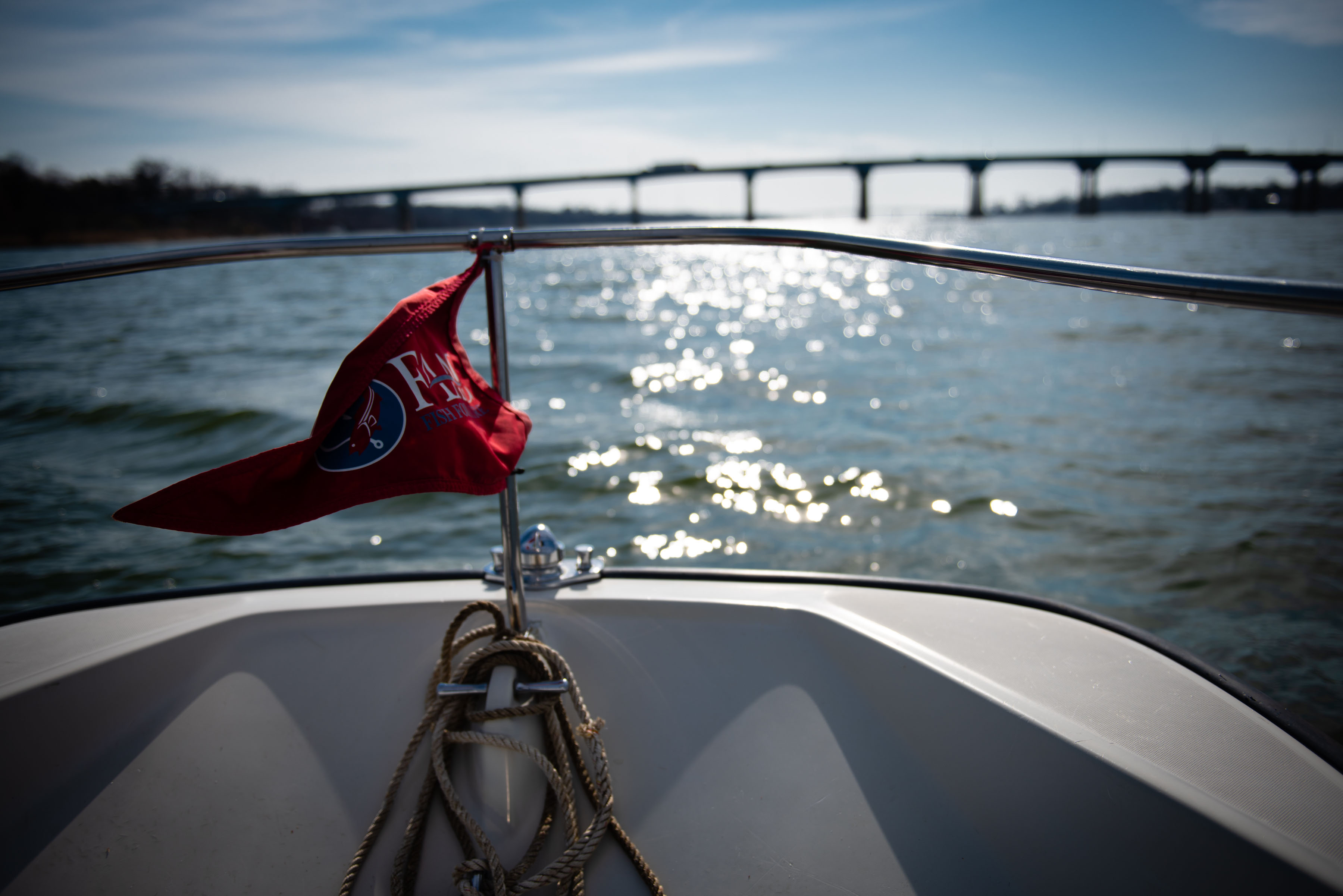 First Light, a boat belonging to the Chesapeake Bay Foundation, heads toward the U.S. 50 bridge on the Severn River in Arnold, Md. MUST CREDIT: Washington Post photos by Sarah L. Voisin