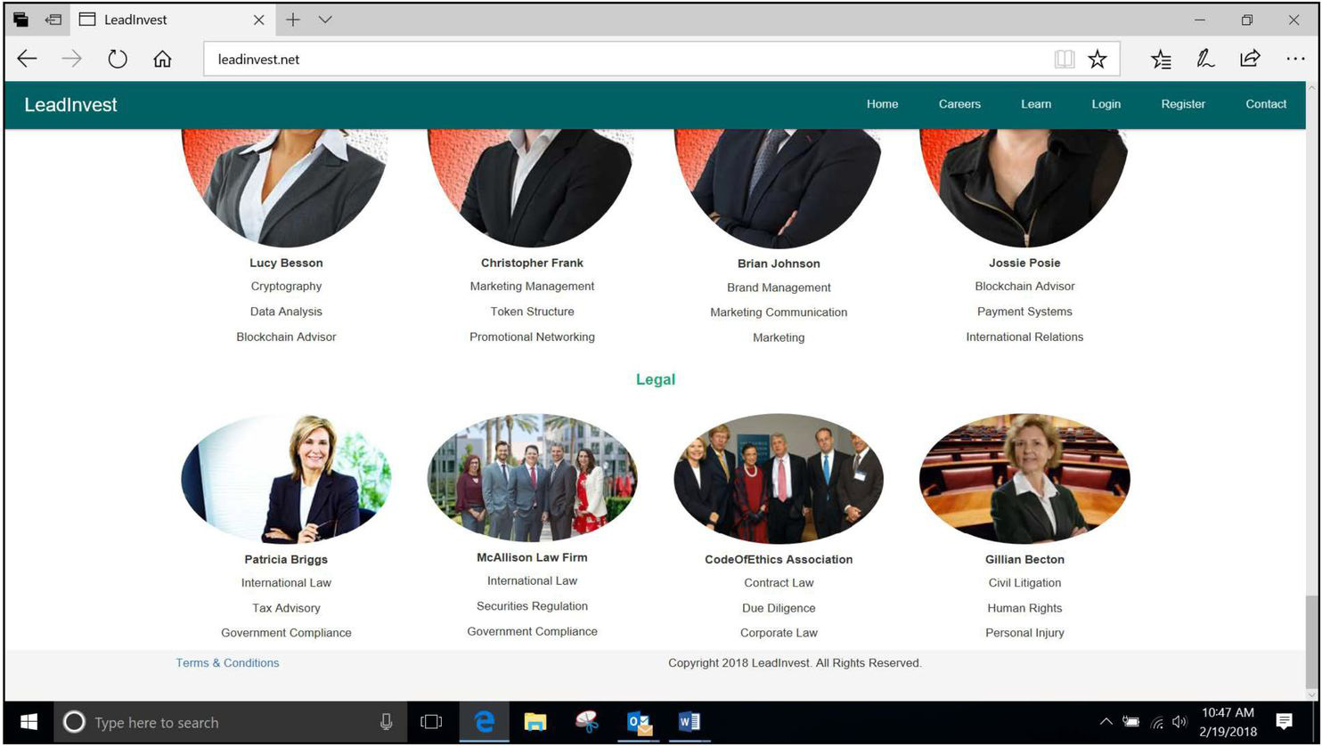 A screenshot of a website targeted by the Texas State Securities Board for enforcement. The site is accused of using a deceptive image of Supreme Court Justice Ruth Bader Ginsburg. MUST CREDIT: Texas State Securities Board