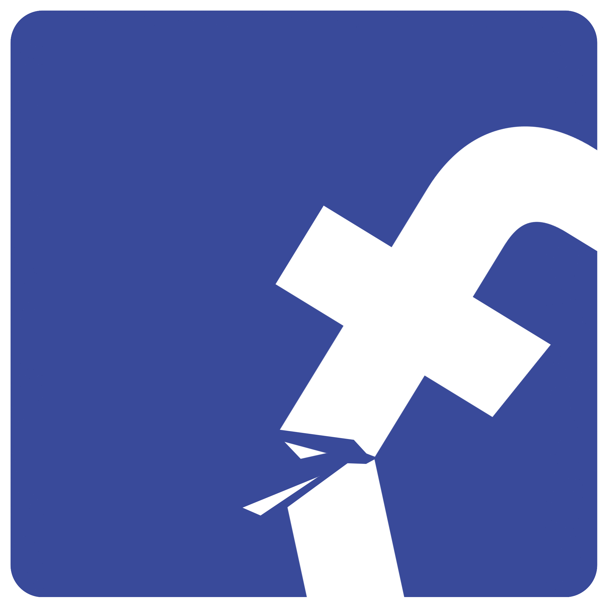 Broken Facebook logo to illustrate story about quitting Facebook. MUST CREDIT: The Washington Post