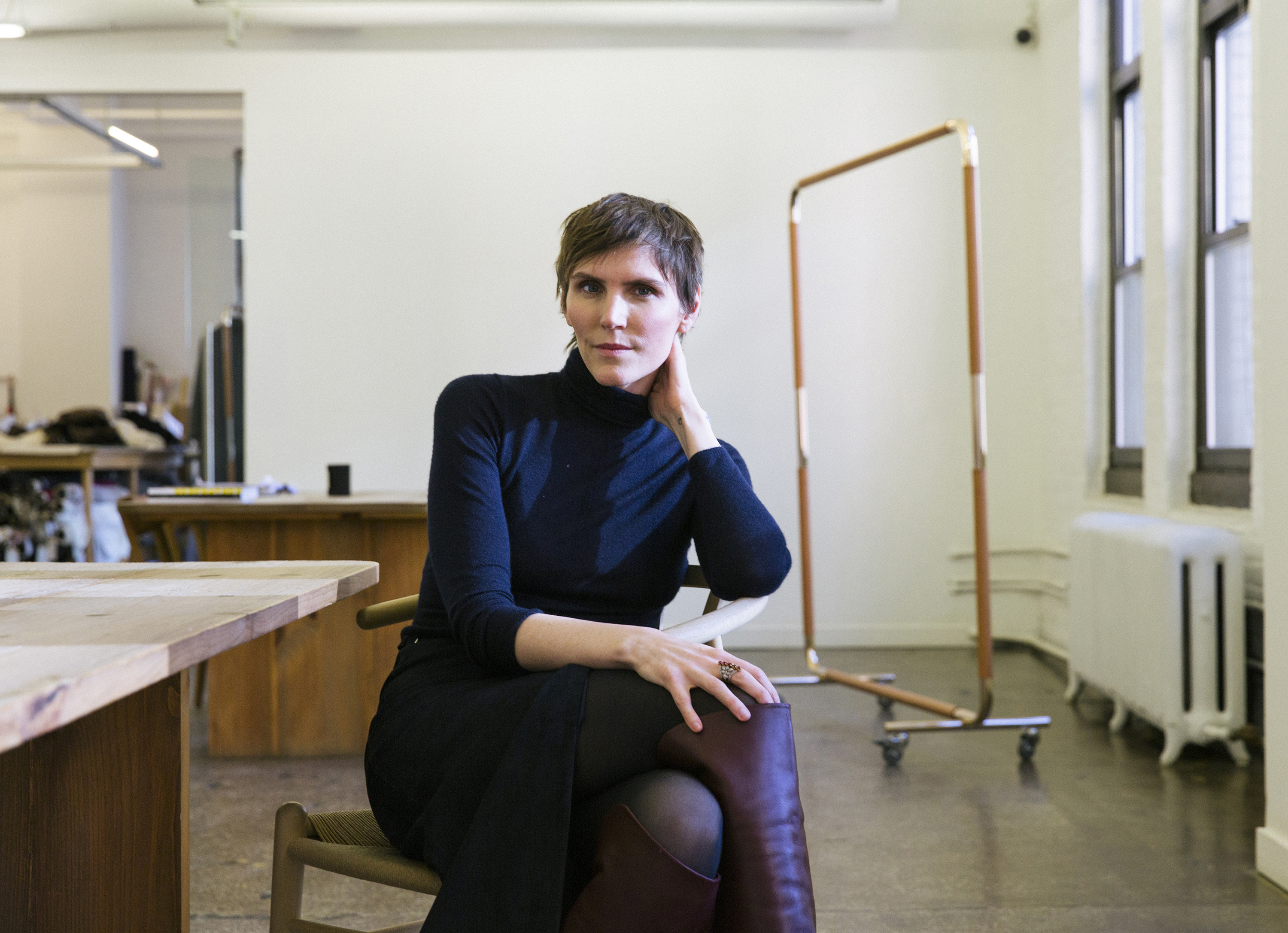 Fashion designer Gabriela Hearst wants to make clothes that become hand-me-downs, not castoffs. MUST CREDIT: Photo for The Washington Post by Ben Sklar