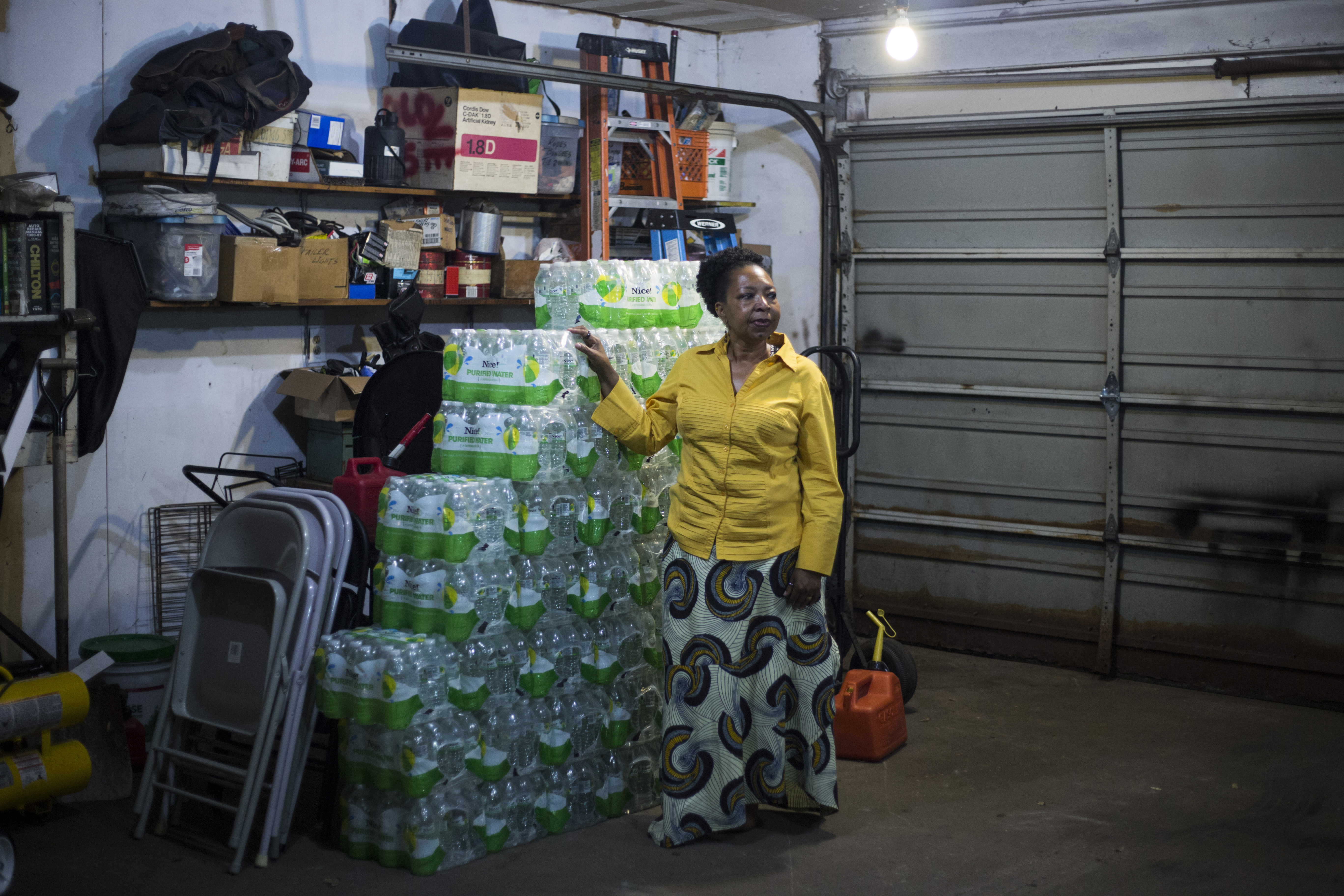 Darlene McClendon, 62, at her home in Flint, Michigan, on Tuesday, October 11, 2016. Amidst a struggling school system, McClendon, a 6th grade teacher at Eisenhower Elementary School, said the water crisis has only made her worry more for the future of her students. MUST CREDIT: Photo by Brittany Greeson for The Washington Post