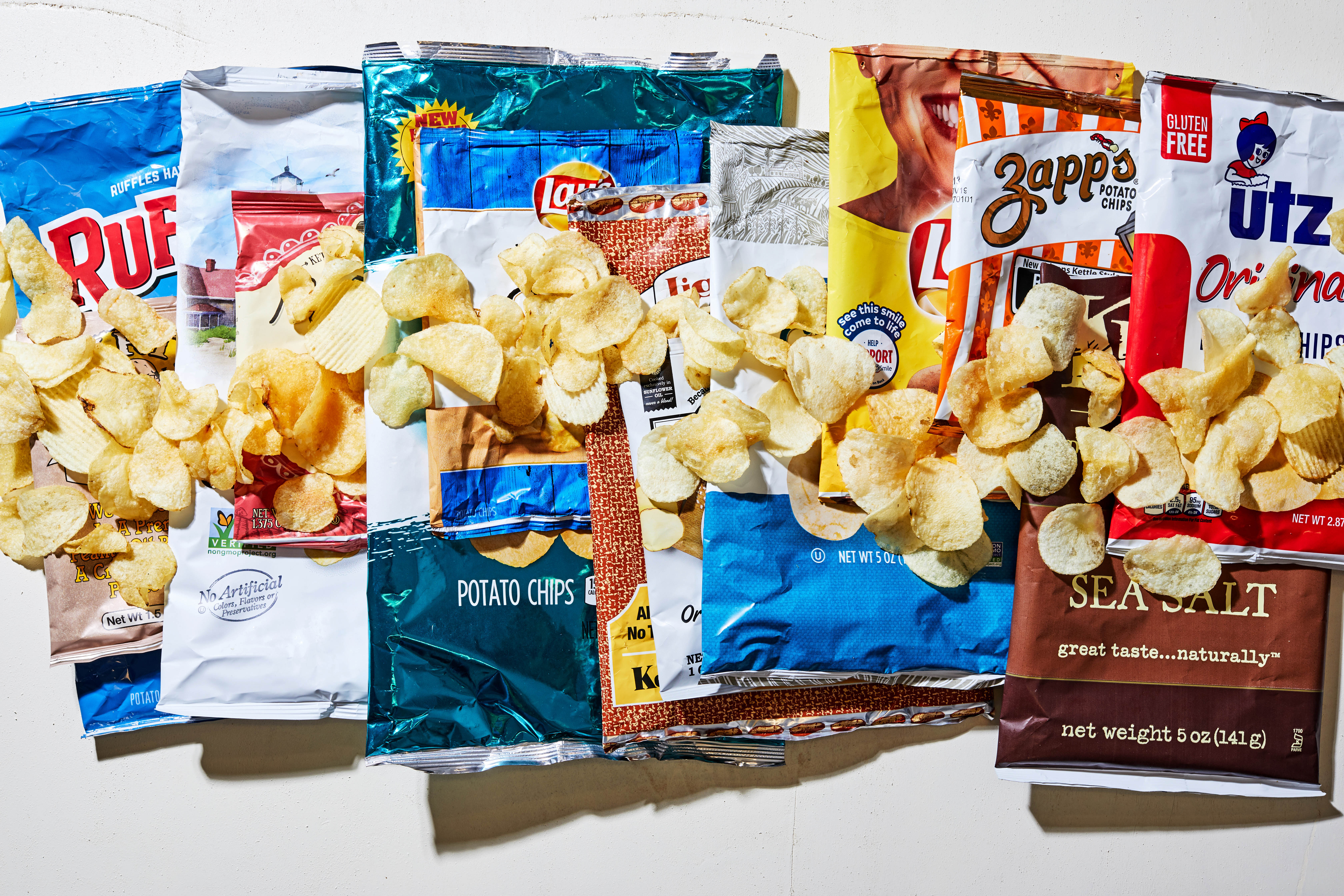 We tried 13 popular potato chip brands, and our top and bottom picks might just surprise you. MUST CREDIT: Photo by Stacy Zarin Goldberg for The Washington Post.