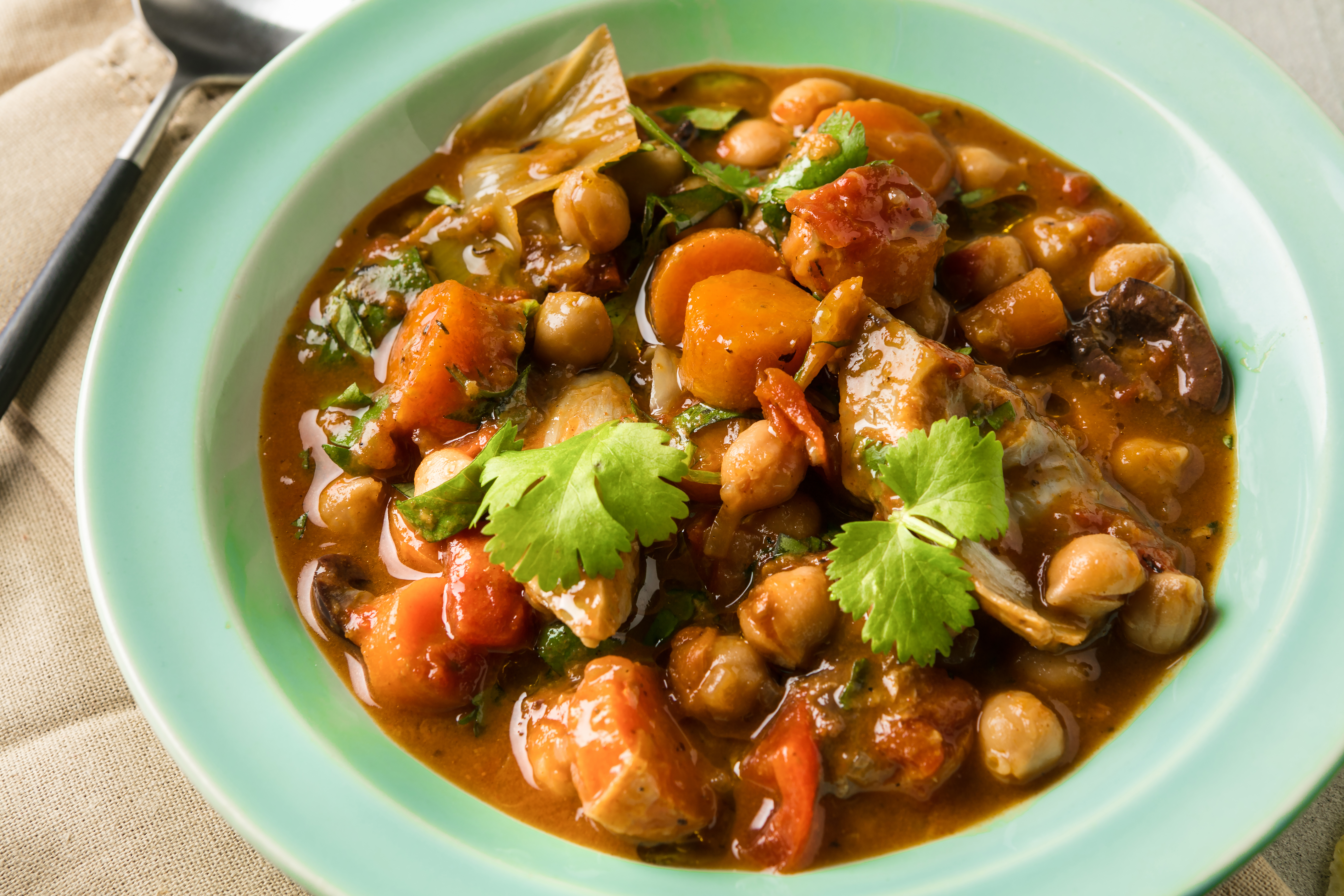 Chickpea and Artichoke Tagine. MUST CREDIT: Photo by Goran Kosanovic for The Washington Post.