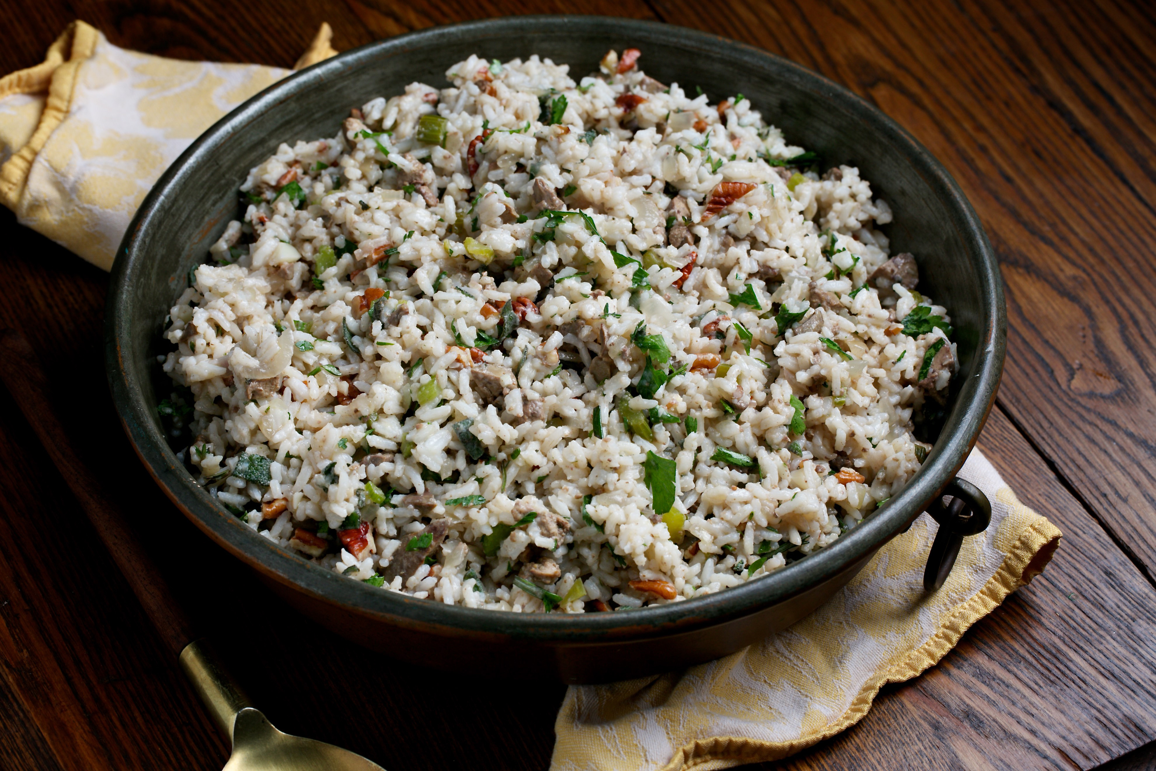 Charleston Rice Dressing. MUST CREDIT: Photo by Deb Lindsey for The Washington Post.