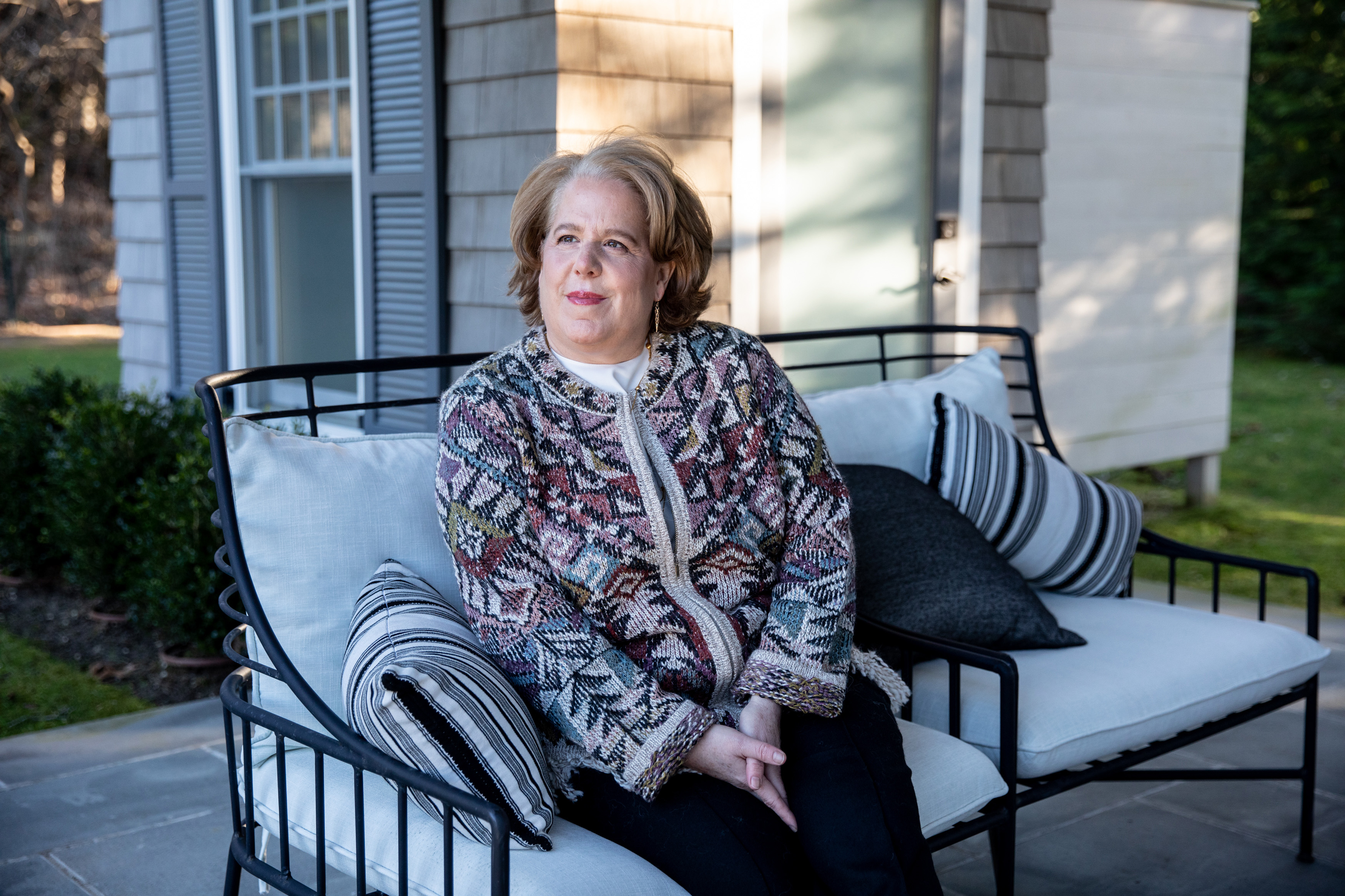 Lawyer Roberta Kaplan at her New York vacation home. She has three cases pending against President Donald Trump. MUST CREDIT: Photo for The Washington Post by Jackie Molloy