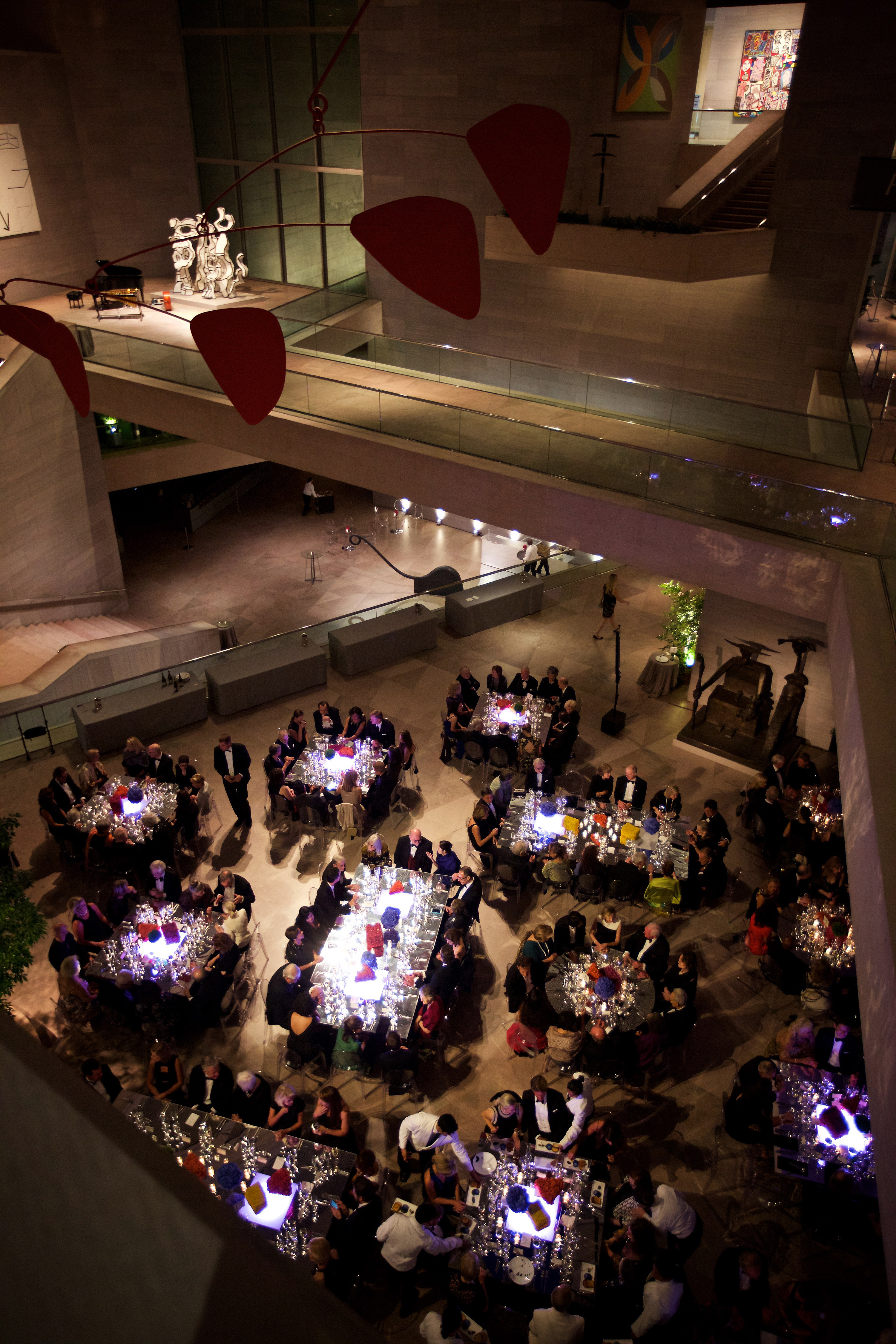 Dinner for the reopening of the East Wing of the National Gallery of Art in Washington, D.C., on Sept. 28. MUST CREDIT: Photo for The Washington Post by Deb Lindsey