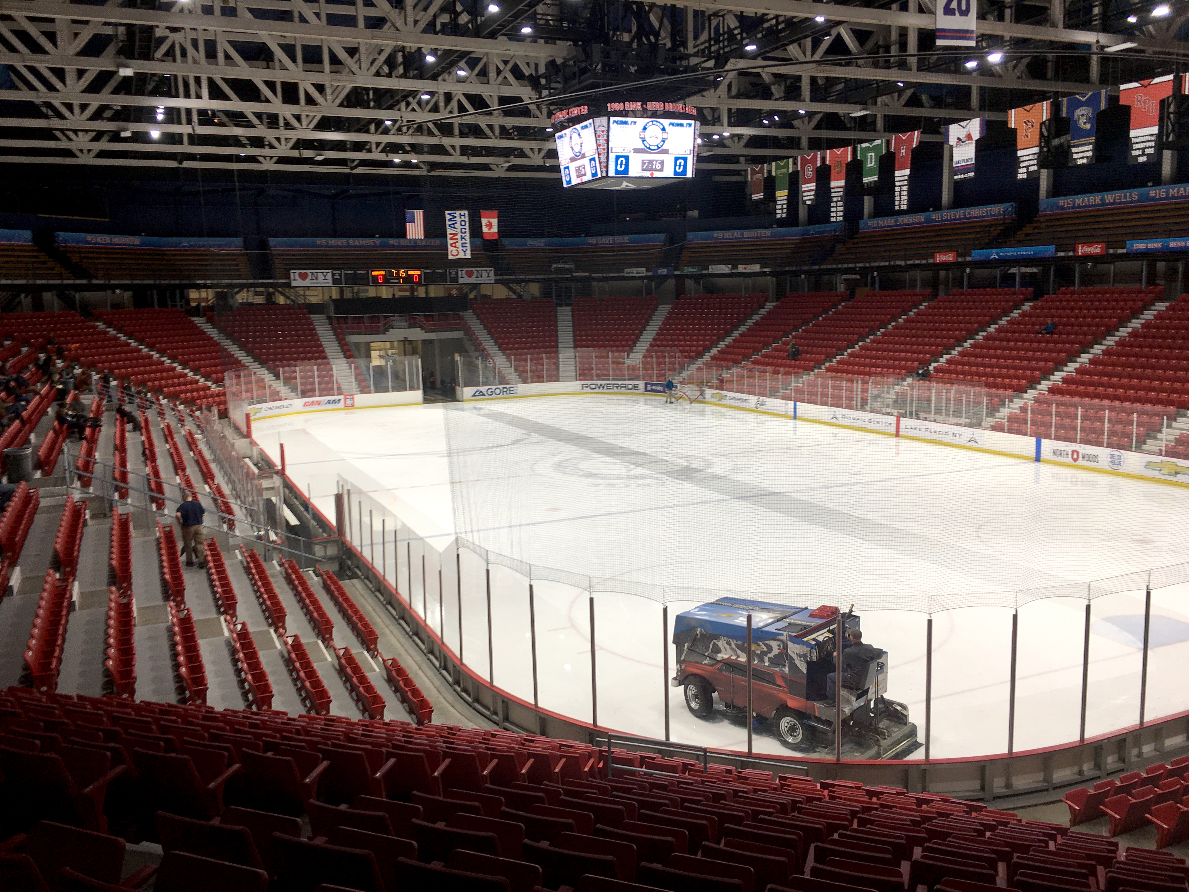The Lake Placid Olympic Center contains the Herb Brooks Arena and 1980 Rink, two other rinks and a museum. MUST CREDIT: Washington Post photo by Chuck Culpepper.