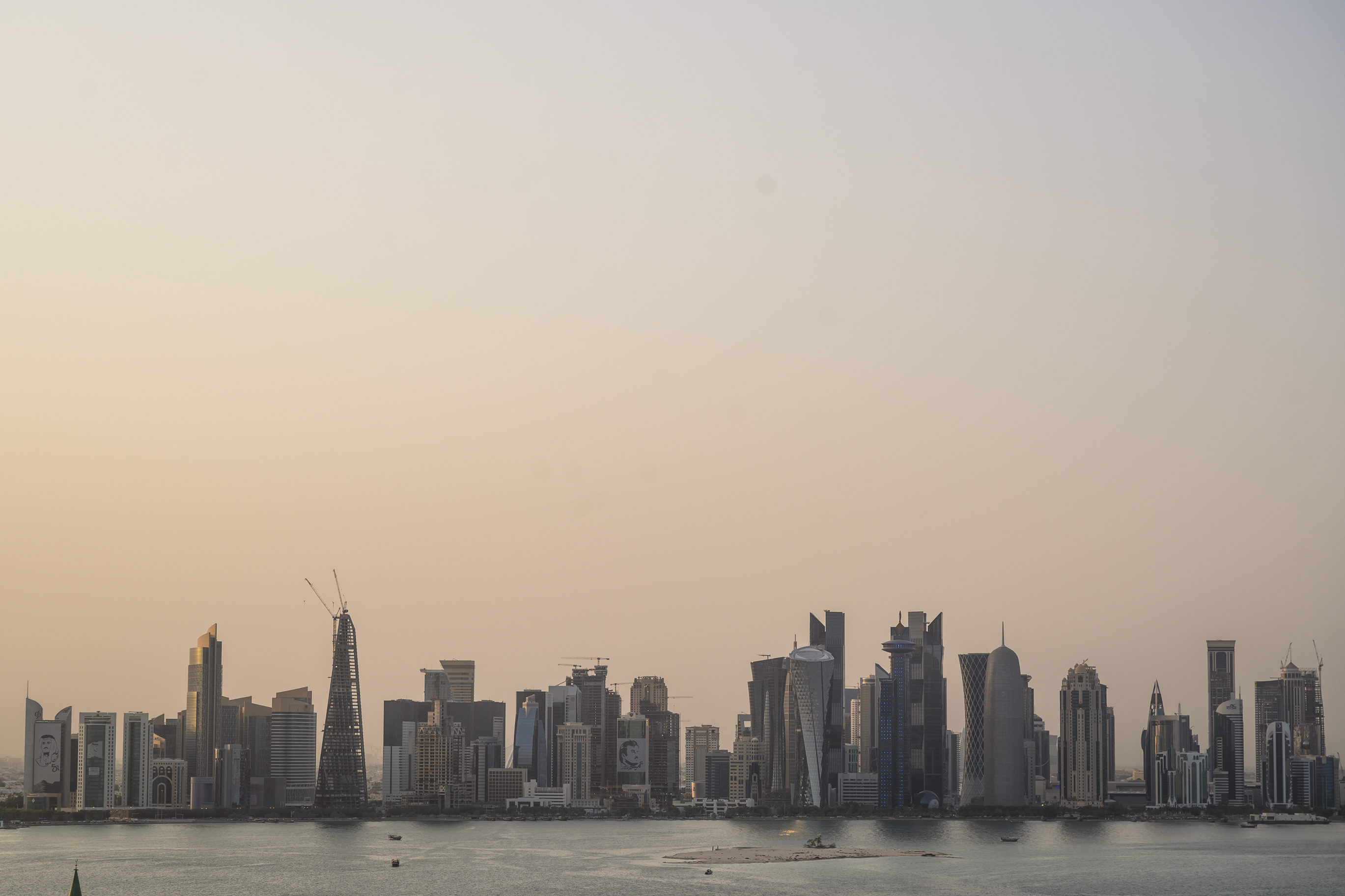 The skyline in Doha, Qatar, in July 2019. MUST CREDIT: Washington Post photo by Salwan Georges
