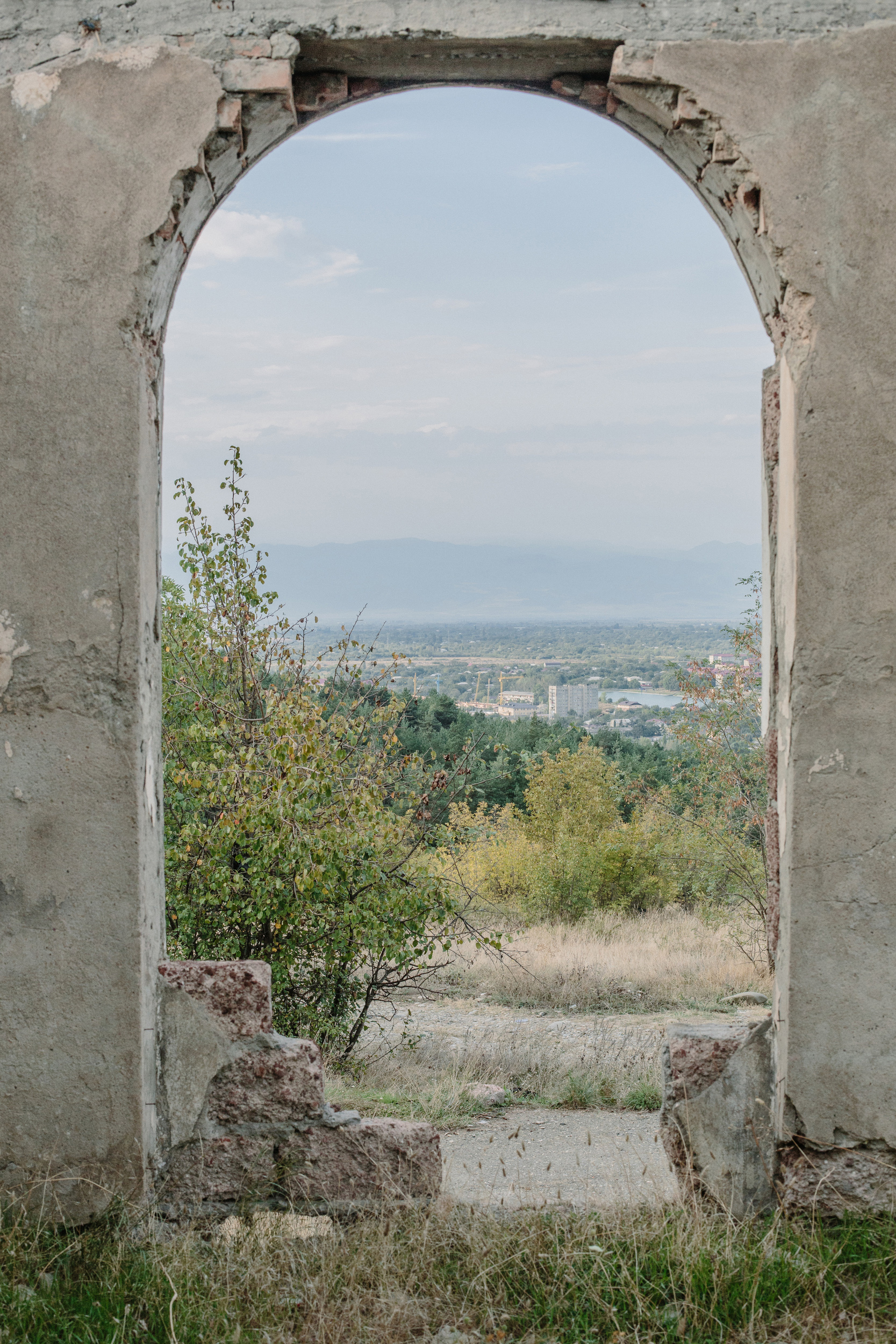 A view of Tskhinvali from a ruined building during the first war with Georgia. MUST CREDIT: Photo for The Washington Post by Ksenia Ivanova