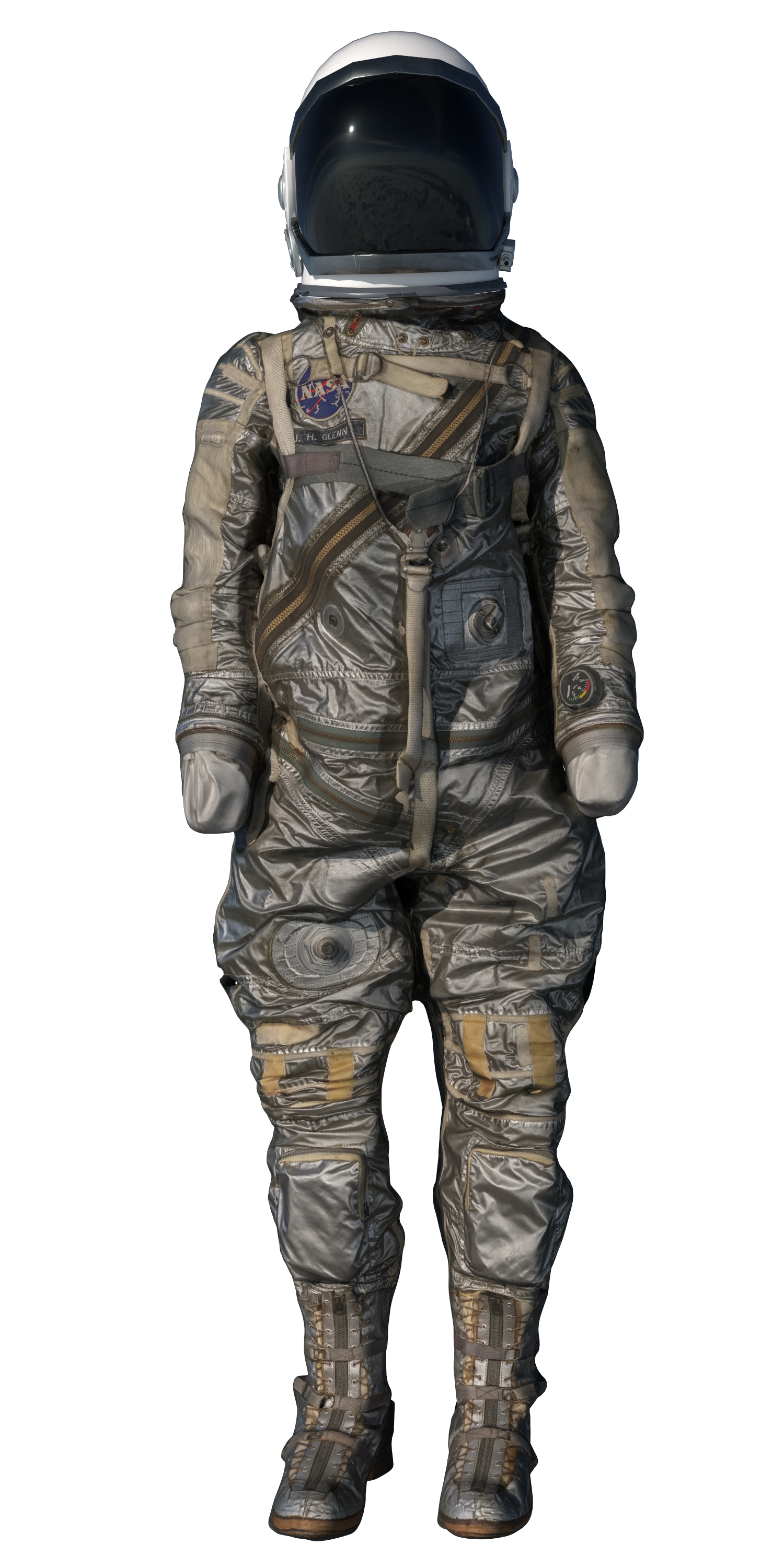 The Mercury suits developed for flights in the 1960s were modeled after the suits worn by military pilots after World War II. MUST CREDIT: The Washington Post