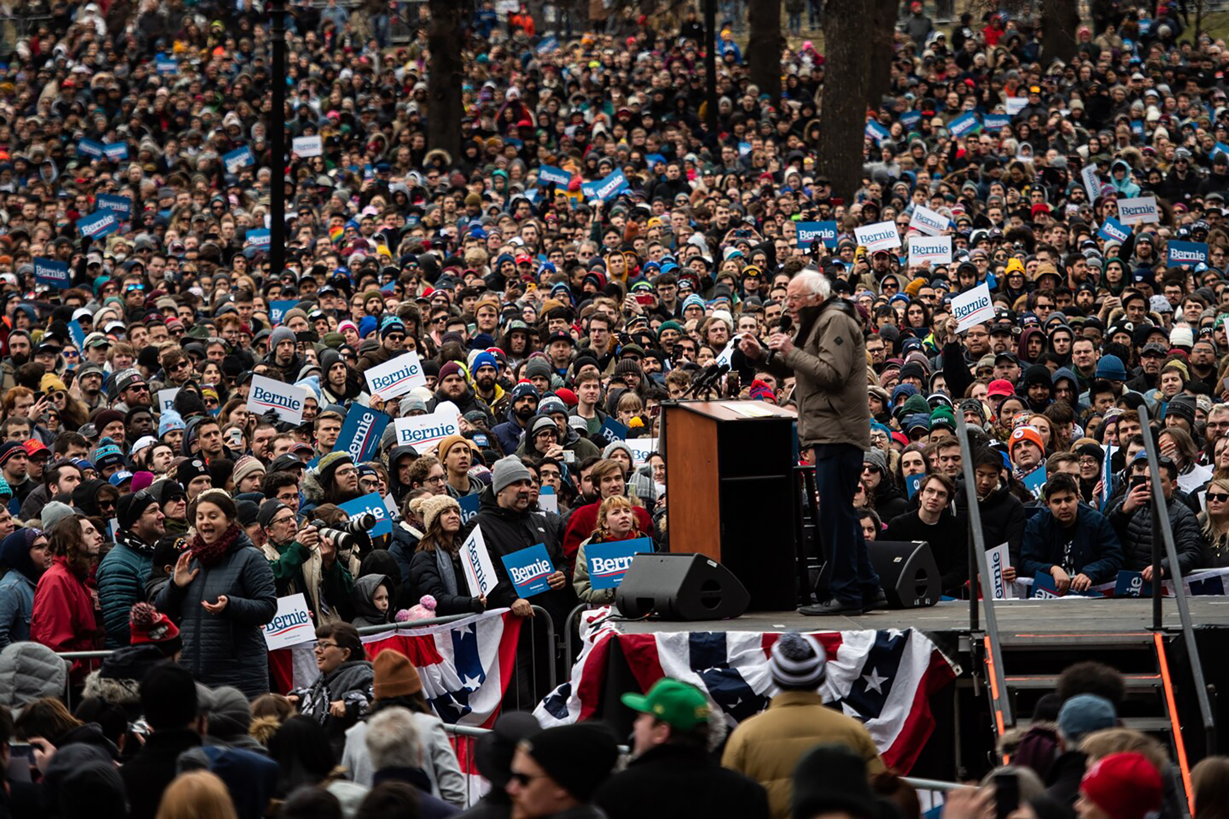 Bernie Sanders has the advantage on Super Tuesday as rivals jockey to hold down his delegate count