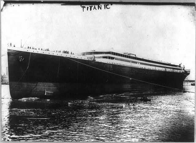 The RMS Titanic. MUST CREDIT: Library of Congress.