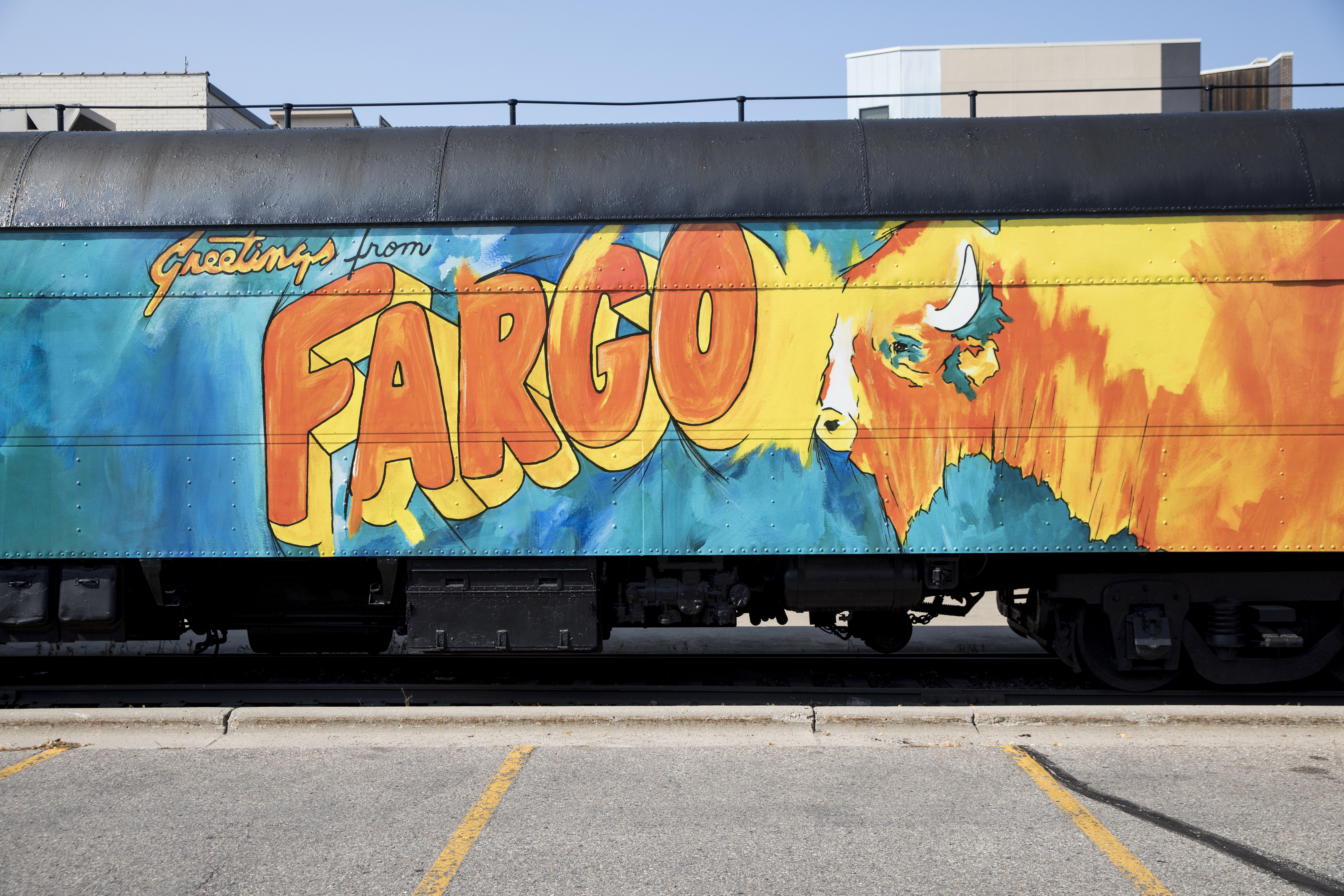 Street art in downtown Fargo, N.D. MUST CREDIT: Photo for The Washington Post by Jenn Ackerman