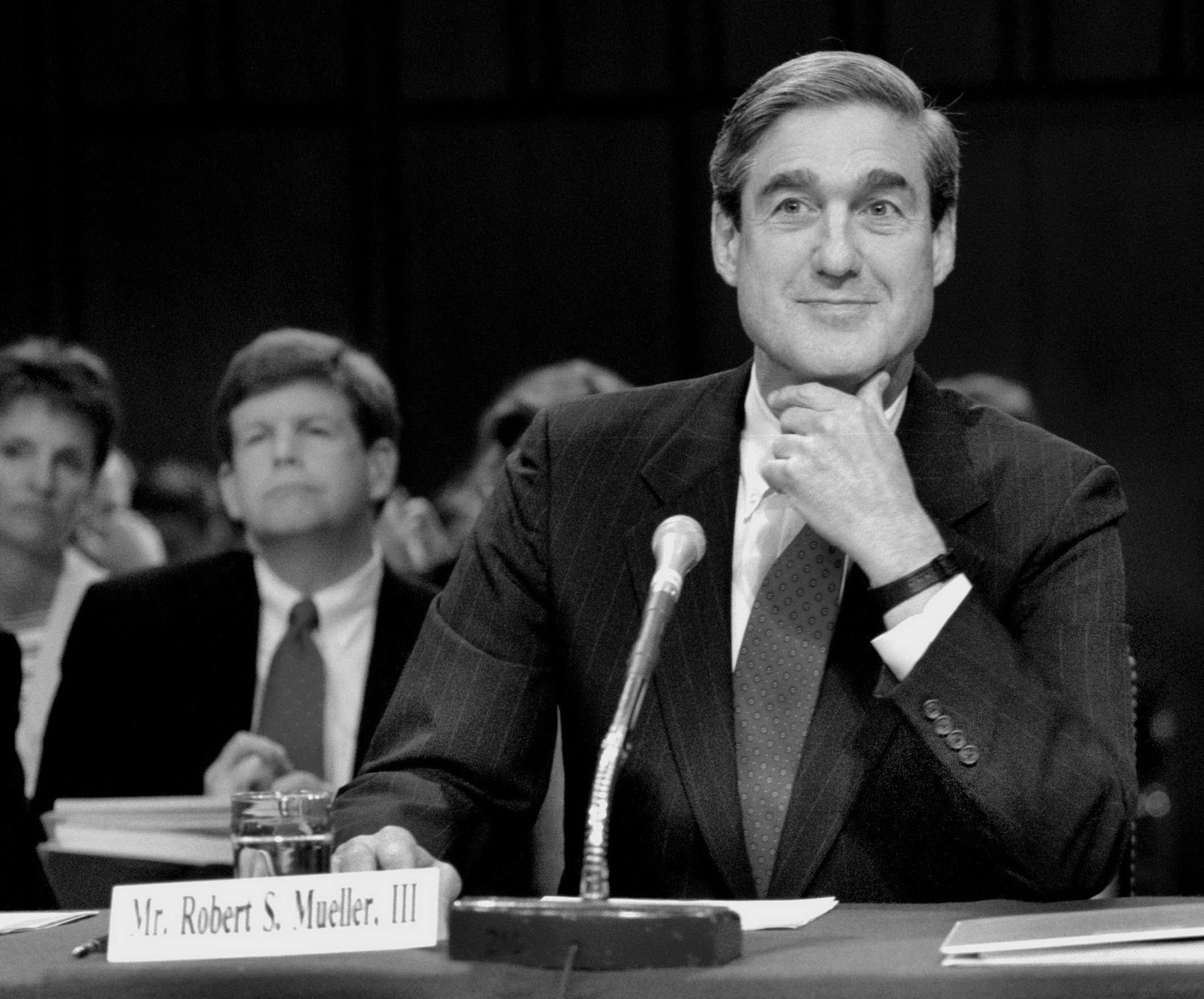 The Senate Judiciary Committee holds a hearing on Robert Mueller's nomination to be director of the FBI in 2001. MUST CREDIT: Washington Post photo by Ray Lustig