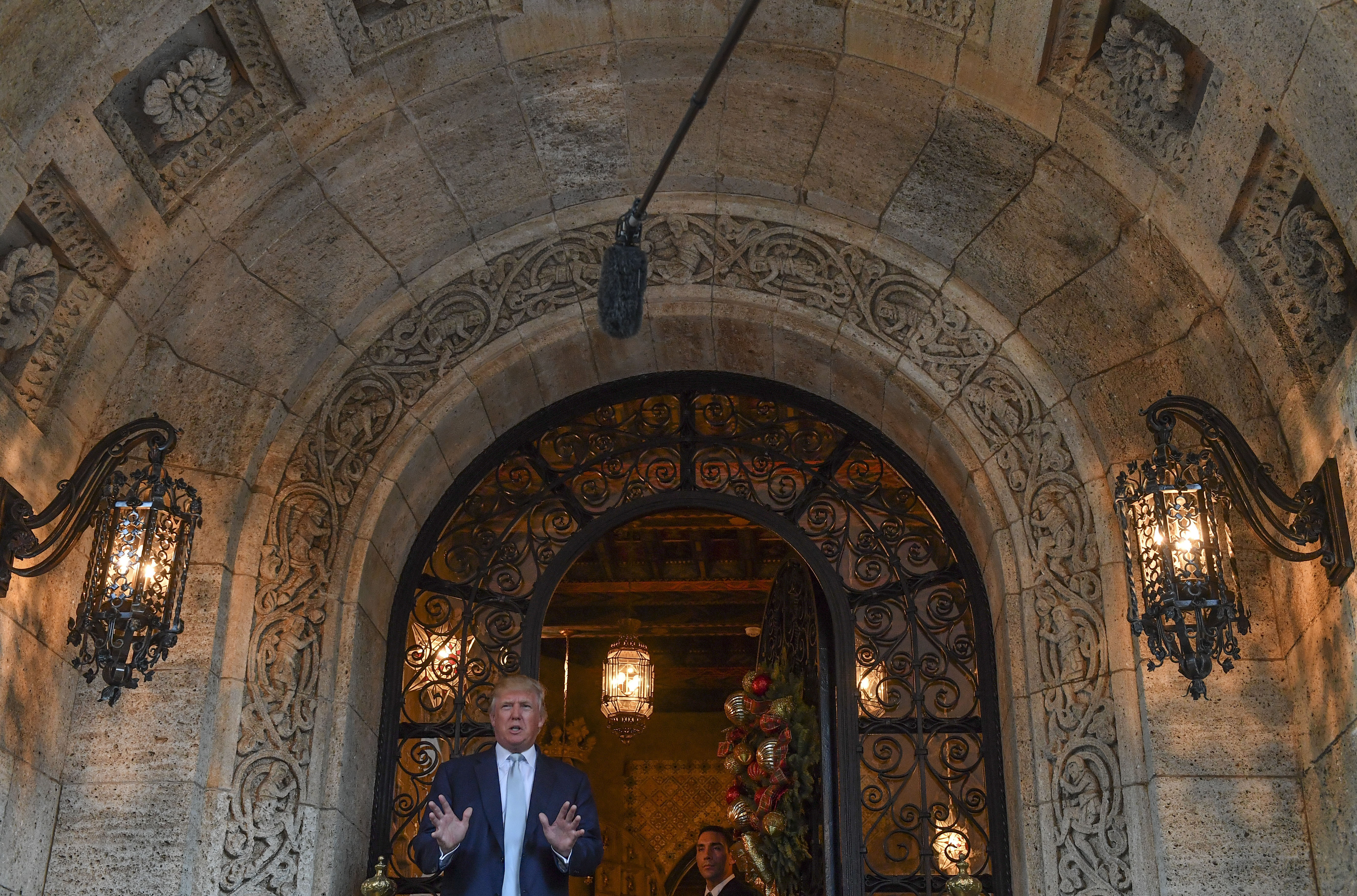 Donald Trump at Mar-a-Lago Club in December 2016 in Palm Beach, Fla. MUST CREDIT: Washington Post photo by Ricky Carioti