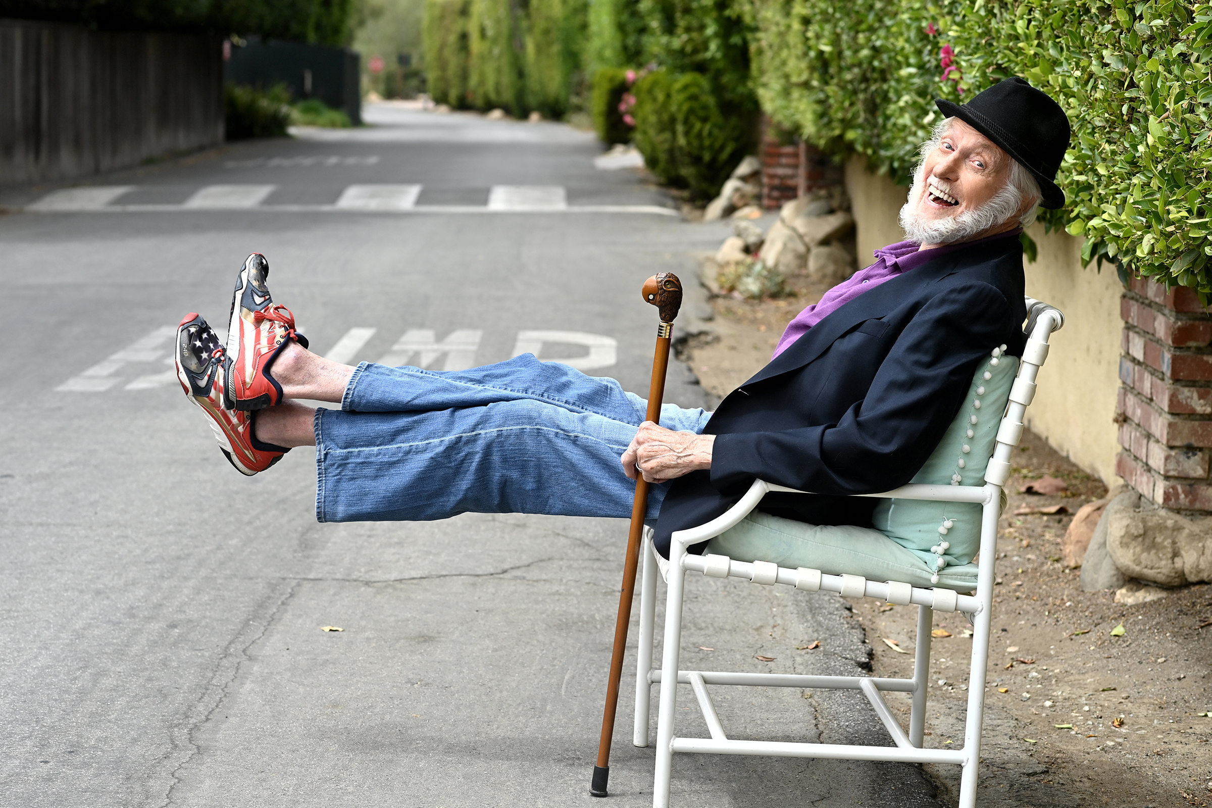 Dick Van Dyke at home in Malibu, Calif. A career that began in the 1940s has been interrupted by the pandemic.