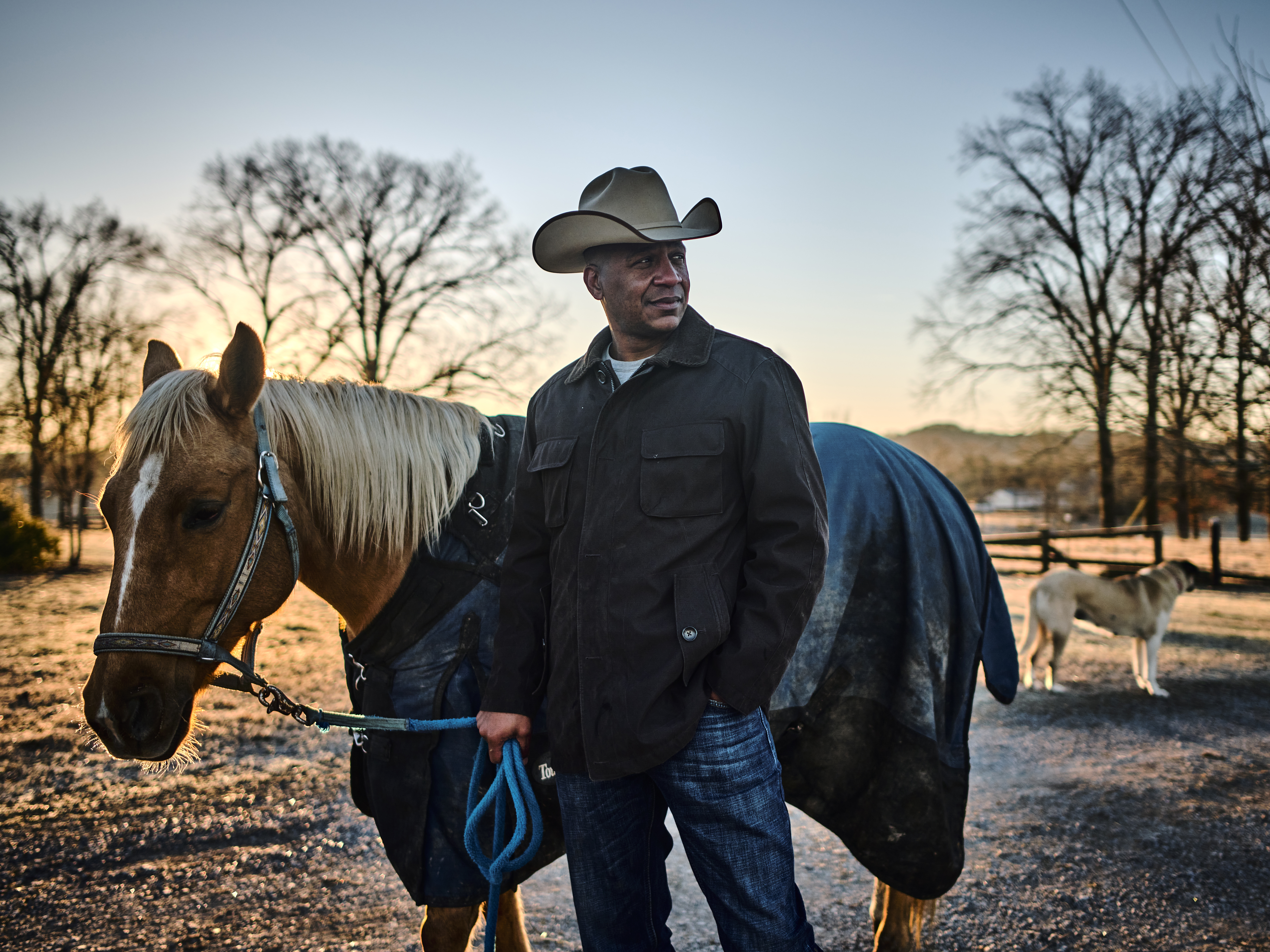 Corey Lea, a beef and pork rancher in Murfreesboro, Tenn., who advocates for Black farmers, doesn't like the idea of Tom Vilsack again leading the Agriculture Department. MUST CREDIT: photo for The Washington Post by William DeShazer.
