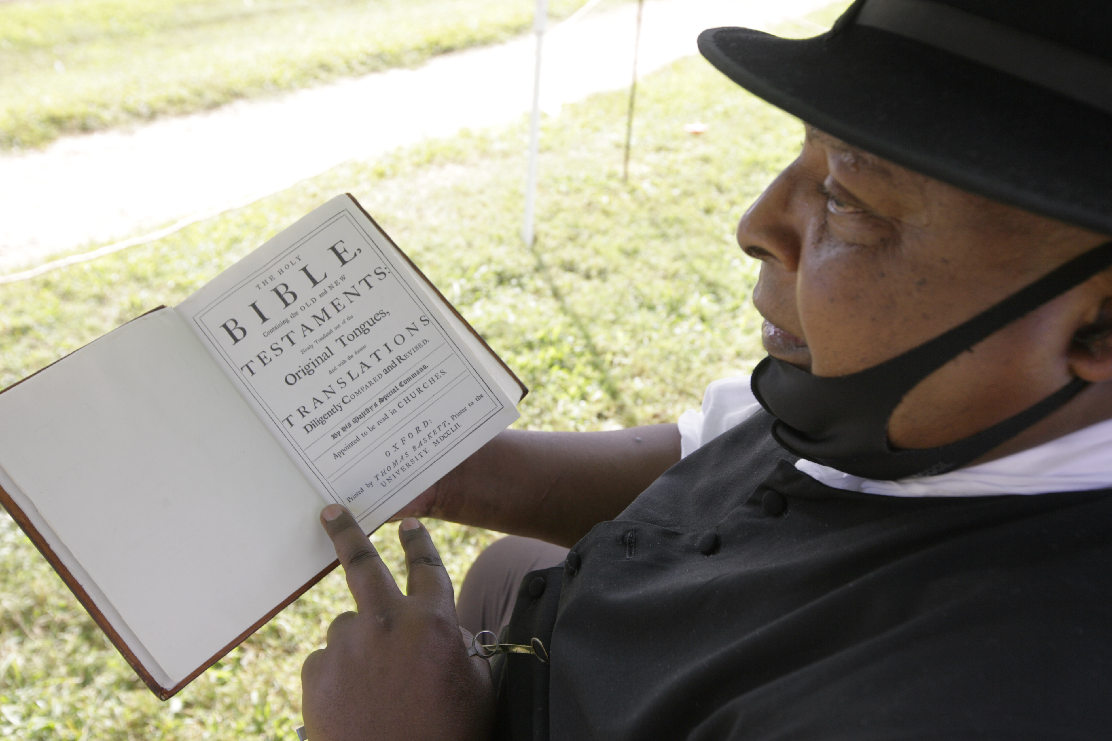 James Ingram Jr. portrays the Rev. Gowan Pamphlet at Colonial Williamsburg. Pamphlet was the first African American ordained as a minister in America and a founder of the First Baptist Church, which still survives. MUST CREDIT: Photo for The Washington Post by Timothy C. Wright