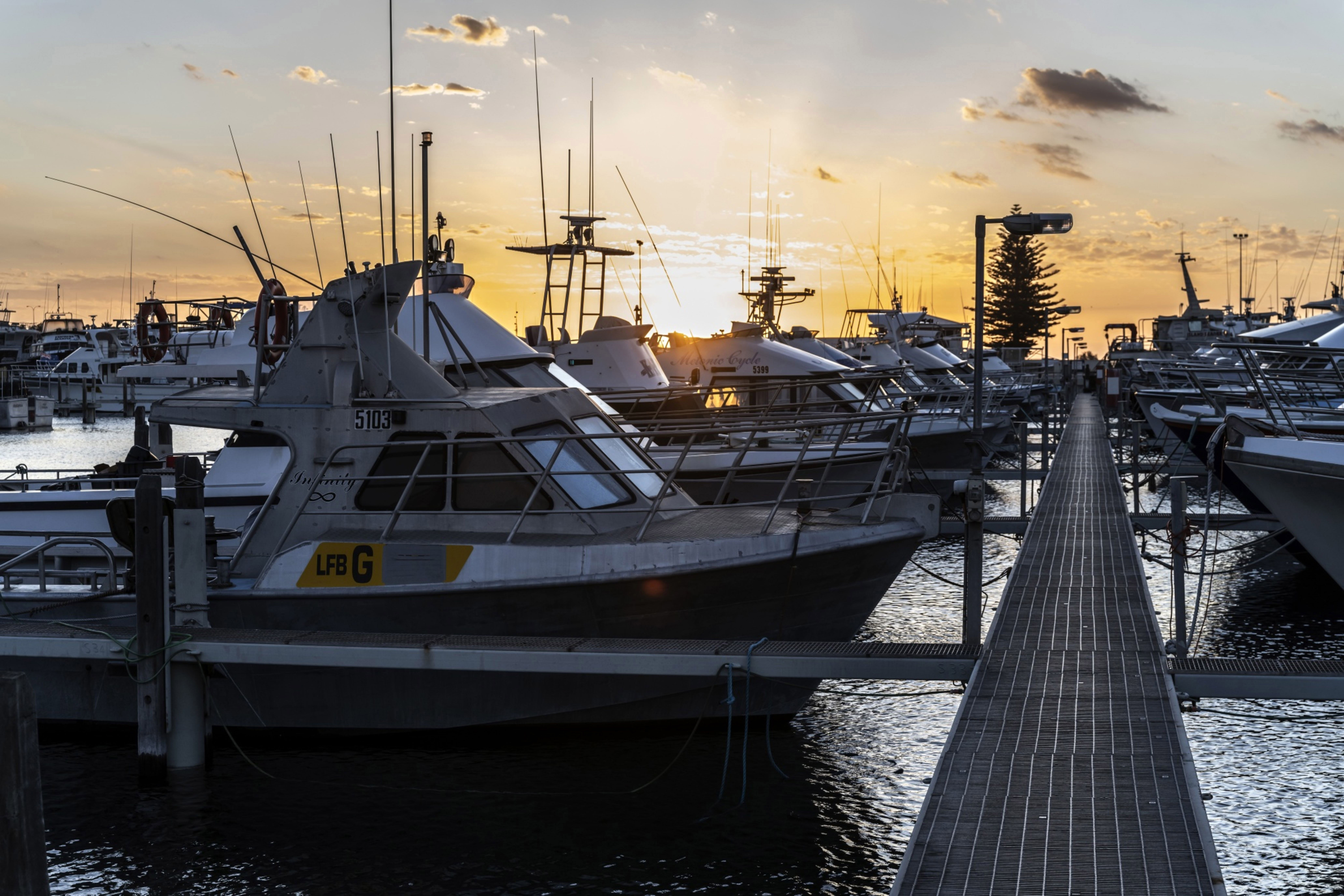 Boats sit idle in Fishing Boat Harbour in Geraldton, Australia, as the Western Rock Lobster Industry grinds almost to a halt due to the corona virus crisis. MUST CREDIT: Bloomberg photo by David Dare Parker.