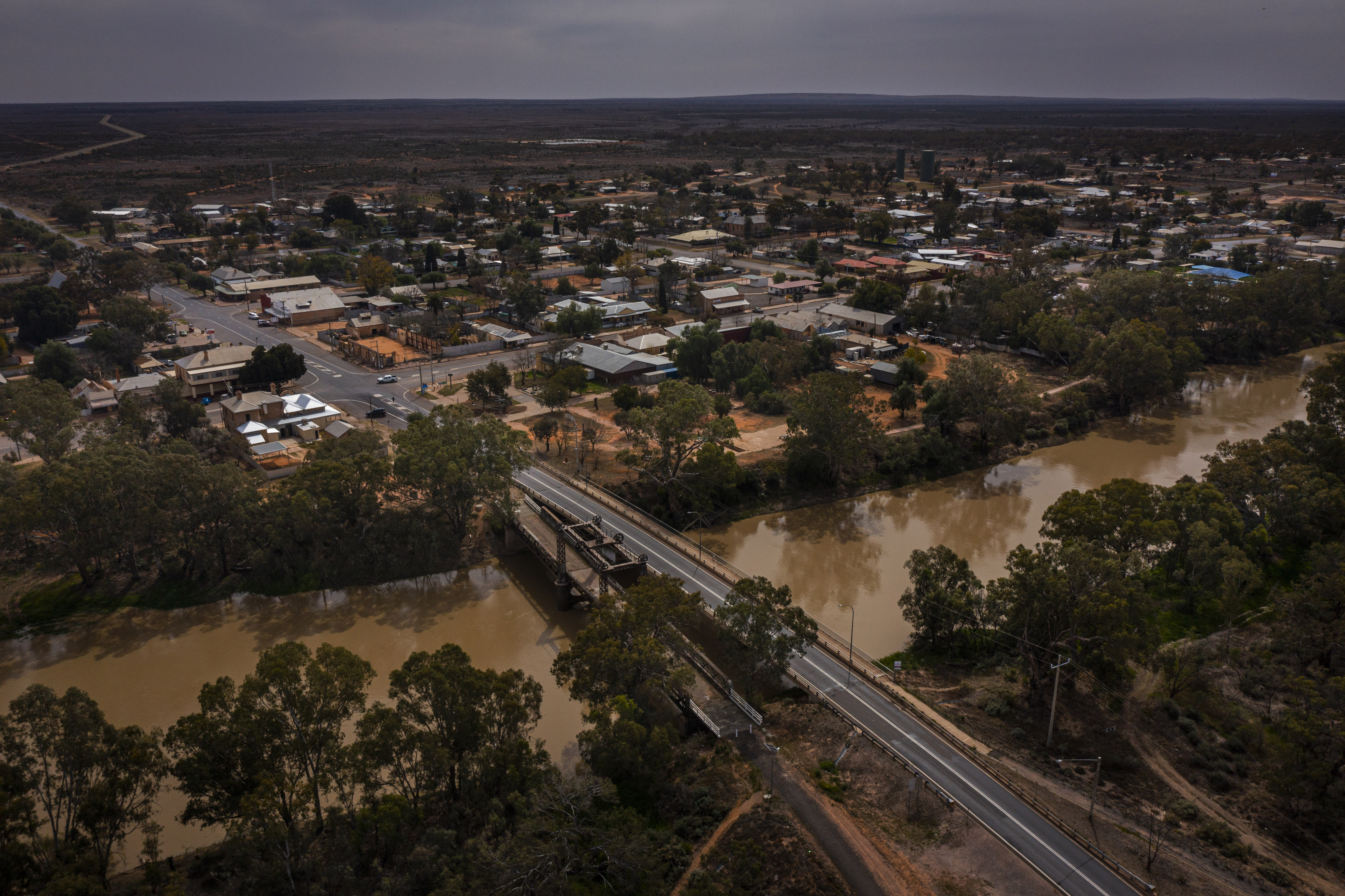 Wilcannia sits on the Darling River in far western New South Wales, Australia. Many of its residents are Indigenous. MUST CREDIT: Photo by Matthew Abbott for The Washington Post.