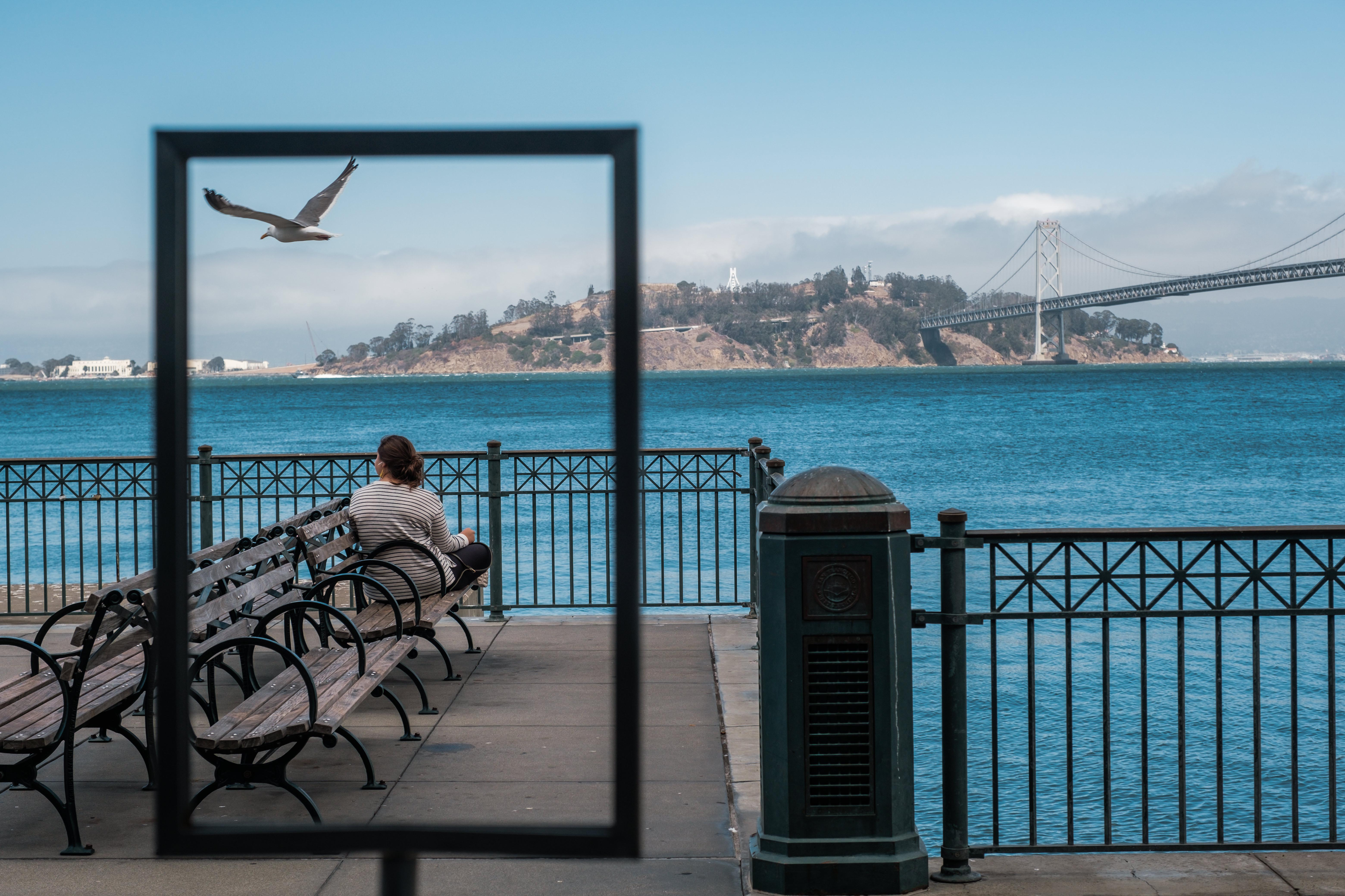 he waterfront in San Francisco is eerily empty on an August afternoon. MUST CREDIT: photo for The Washington Post by Nick Otto.