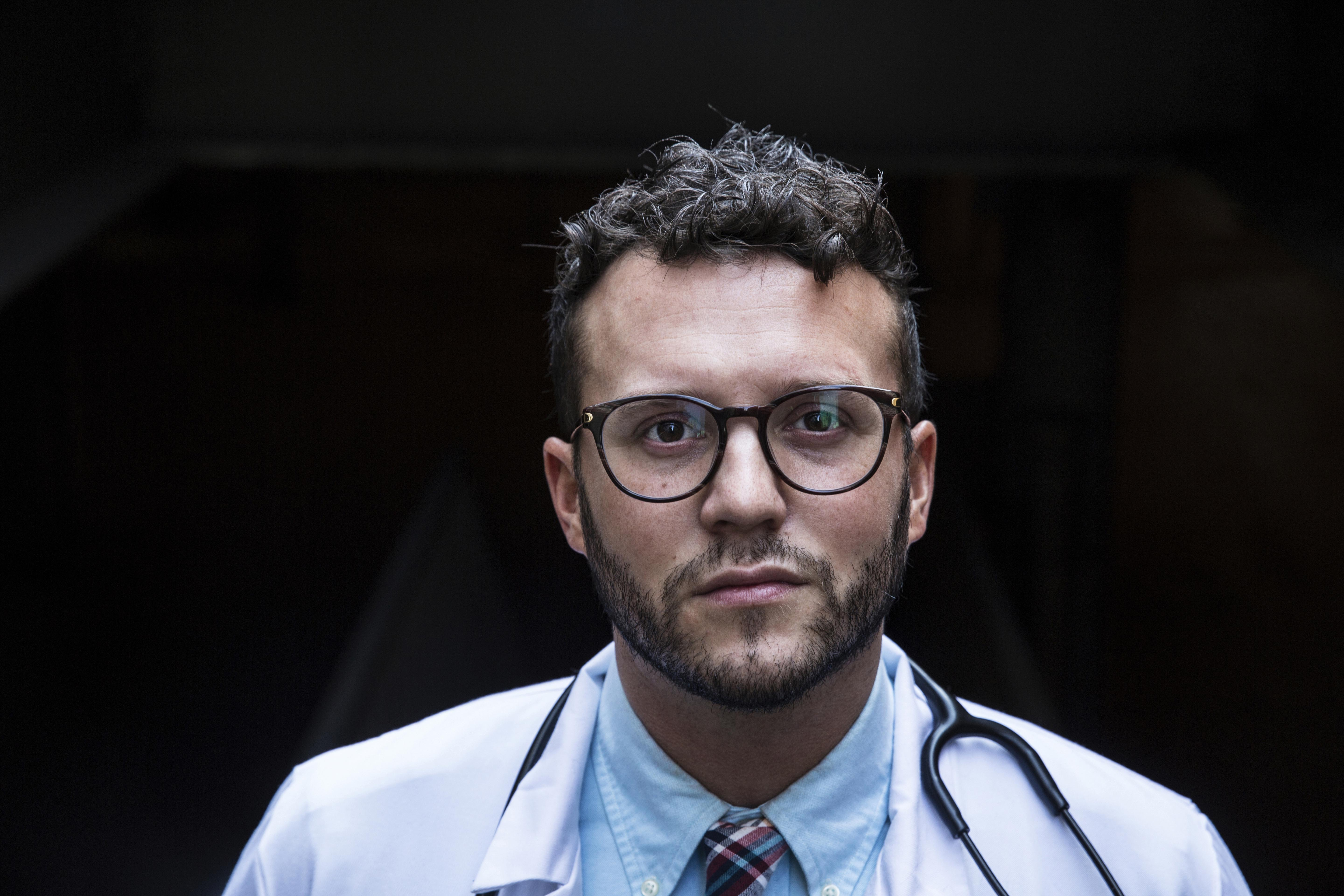 Corey Deburghgraeve is an anesthesiologist at University of Illinois Hospital in Chicago. MUST CREDIT: Photo for The Washington Post by Kyle Monk